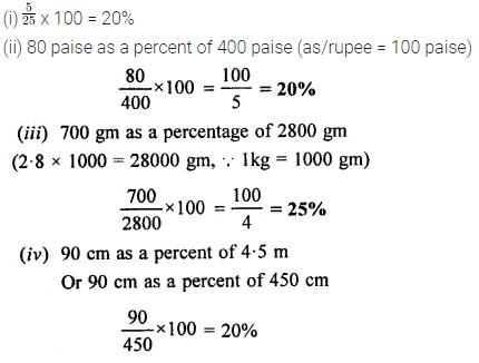 Selina Concise Mathematics Class 6 ICSE Solutions Chapter 16 Percent (Percentage) Ex 16B 7
