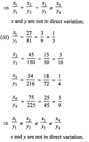 Selina Concise Mathematics Class 8 ICSE Solutions Chapter 10 Direct and Inverse Variations Ex 10A 2