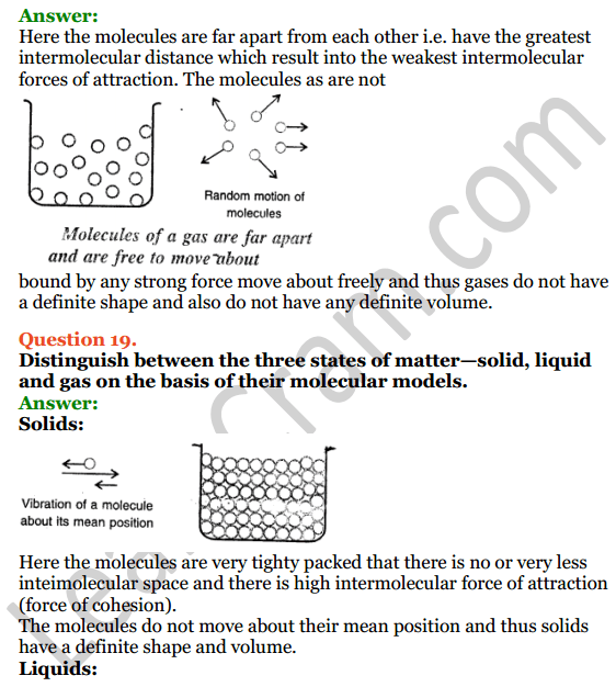 Selina Concise Physics Class 6 ICSE Solutions Chapter 1 Matter 10
