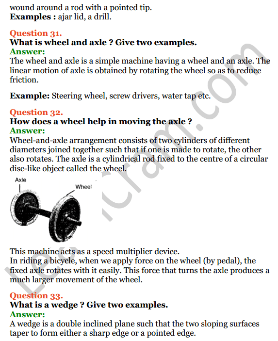 Selina Concise Physics Class 6 ICSE Solutions Chapter 4 Simple Machines 15