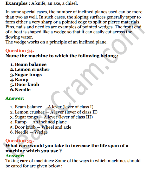 Selina Concise Physics Class 6 ICSE Solutions Chapter 4 Simple Machines 16