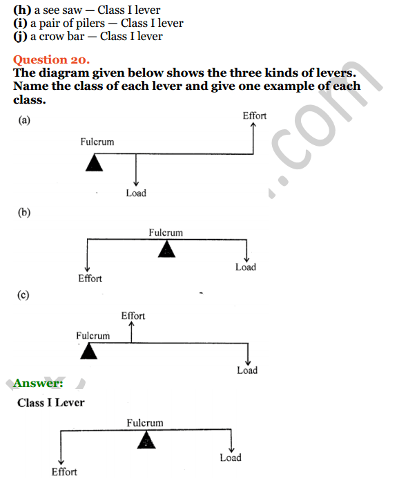 Selina Concise Physics Class 6 ICSE Solutions Chapter 4 Simple Machines 9