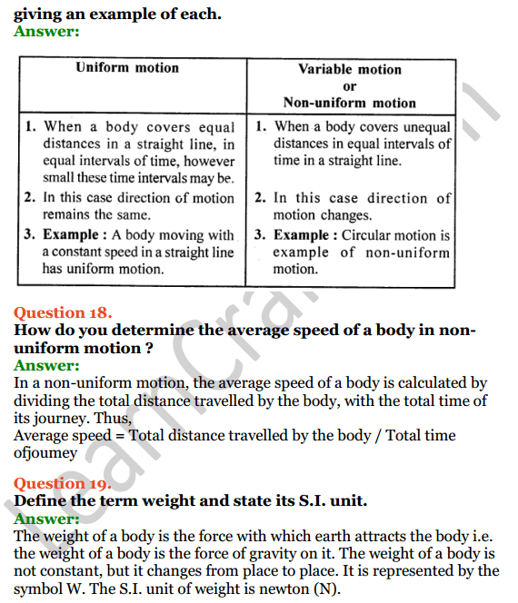 Selina Concise Physics Class 7 ICSE Solutions Chapter 2 Motion 12