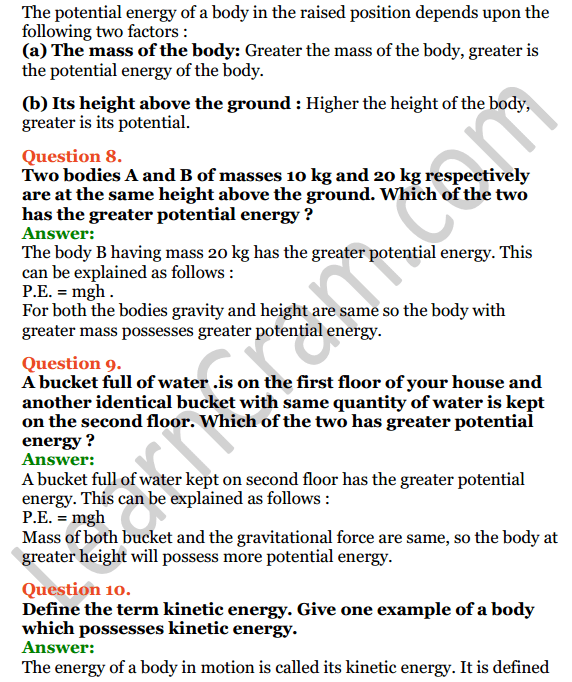 Selina Concise Physics Class 7 ICSE Solutions Chapter 3 Energy 6