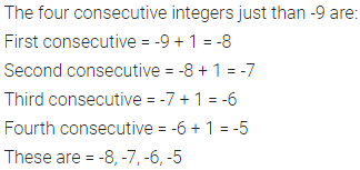ML Aggarwal Class 6 Solutions for ICSE Maths Chapter 3 Integers Ex 3.1 6