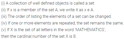 ML Aggarwal Class 6 Solutions for ICSE Maths Chapter 5 Sets Objective Type Questions 1