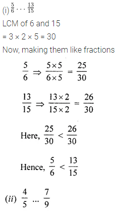 ML Aggarwal Class 6 Solutions for ICSE Maths Chapter 6 Fractions Check Your Progress 7