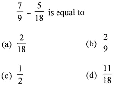 ML Aggarwal Class 6 Solutions for ICSE Maths Chapter 6 Fractions Objective Type Questions 26