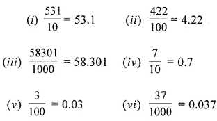 ML Aggarwal Class 6 Solutions for ICSE Maths Chapter 7 Decimals Ex 7.2 2