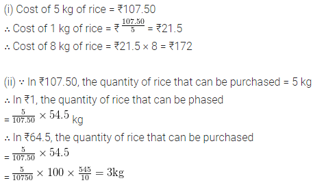 ML Aggarwal Class 6 Solutions for ICSE Maths Chapter 8 Ratio and Proportion Ex 8.3 8
