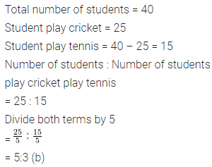 ML Aggarwal Class 6 Solutions for ICSE Maths Chapter 8 Ratio and Proportion Objective Type Questions 7