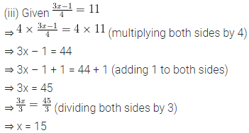 ML Aggarwal Class 6 Solutions for ICSE Maths Chapter 9 Algebra Ex 9.5 5