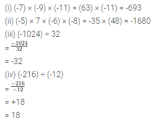 ML Aggarwal Class 7 Solutions for ICSE Maths Chapter 1 Integers Check Your Progress 1