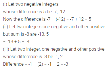 ML Aggarwal Class 7 Solutions for ICSE Maths Chapter 1 Integers Ex 1.2 2