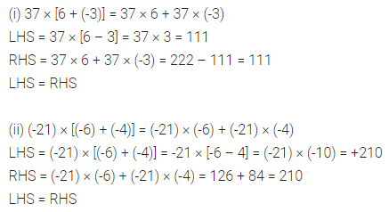 ML Aggarwal Class 7 Solutions for ICSE Maths Chapter 1 Integers Ex 1.3 2