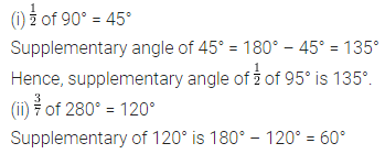 ML Aggarwal Class 7 Solutions for ICSE Maths Chapter 10 Lines and Angles Check Your Progress 1