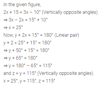 ML Aggarwal Class 7 Solutions for ICSE Maths Chapter 10 Lines and Angles Check Your Progress 5