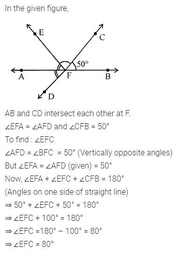 ML Aggarwal Class 7 Solutions for ICSE Maths Chapter 10 Lines and Angles Ex 10.1 18