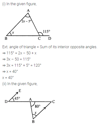 ML Aggarwal Class 7 Solutions for ICSE Maths Chapter 11 Triangles and its Properties Check Your Progress 2