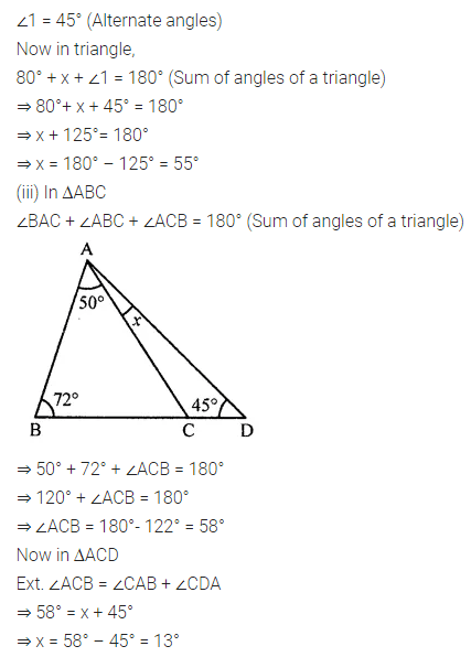 ML Aggarwal Class 7 Solutions for ICSE Maths Chapter 11 Triangles and its Properties Check Your Progress 3