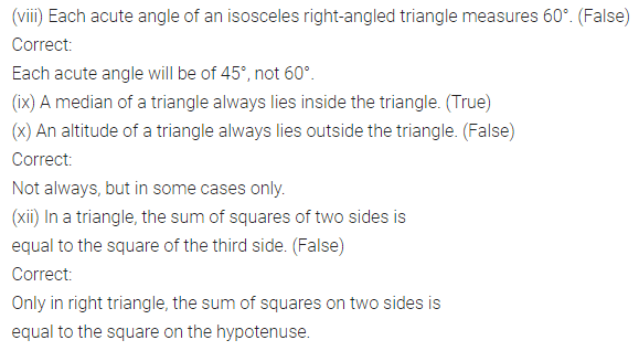 ML Aggarwal Class 7 Solutions for ICSE Maths Chapter 11 Triangles and its Properties Objective Type Questions 3