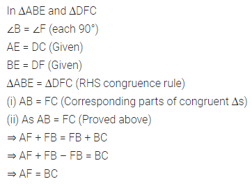 ML Aggarwal Class 7 Solutions for ICSE Maths Chapter 12 Congruence of Triangles Check Your Progress 10