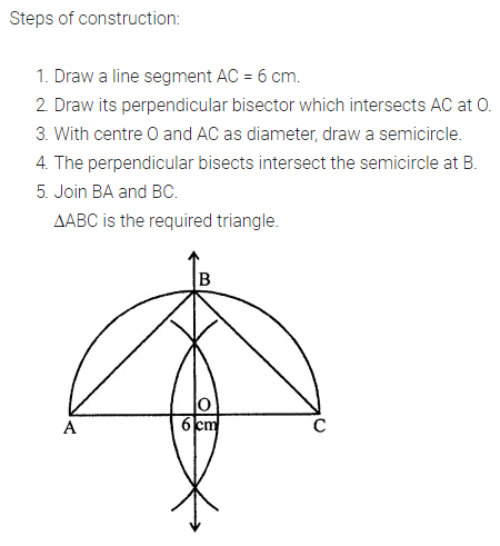 ML Aggarwal Class 7 Solutions for ICSE Maths Chapter 13 Practical Geometry Check Your Progress 6