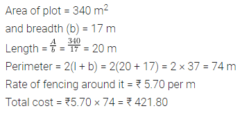 ML Aggarwal Class 7 Solutions for ICSE Maths Chapter 16 Perimeter and Area Ex 16.1 6