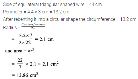 ML Aggarwal Class 7 Solutions for ICSE Maths Chapter 16 Perimeter and Area Ex 16.3 12