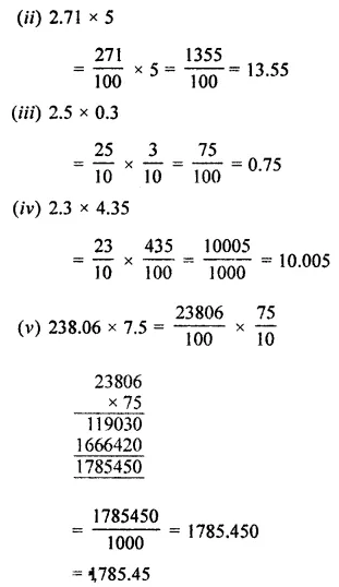 ML Aggarwal Class 7 Solutions for ICSE Maths Chapter 2 Fractions and Decimals Ex 2.6 1
