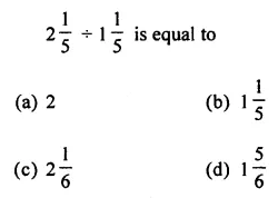 ML Aggarwal Class 7 Solutions for ICSE Maths Chapter 2 Fractions and Decimals Objective Type Questions 13