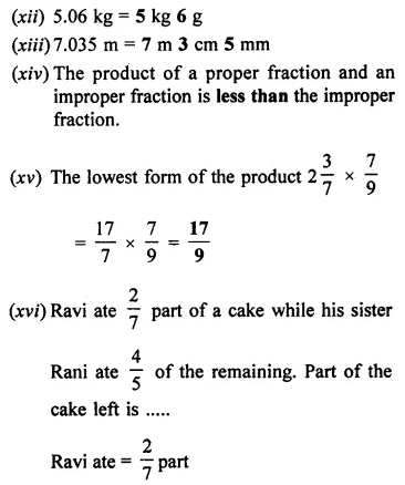 ML Aggarwal Class 7 Solutions for ICSE Maths Chapter 2 Fractions and Decimals Objective Type Questions 3