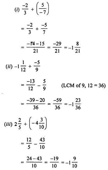 ML Aggarwal Class 7 Solutions for ICSE Maths Chapter 3 Rational Numbers Check Your Progress 15