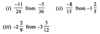 ML Aggarwal Class 7 Solutions for ICSE Maths Chapter 3 Rational Numbers Check Your Progress 16