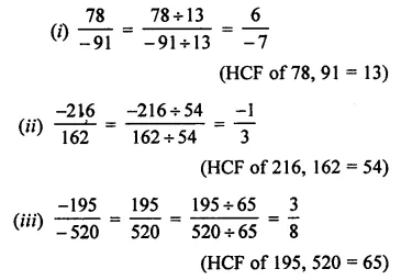 ML Aggarwal Class 7 Solutions for ICSE Maths Chapter 3 Rational Numbers Check Your Progress 4