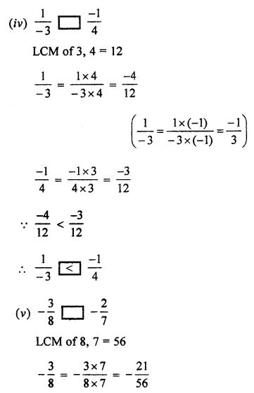 ML Aggarwal Class 7 Solutions for ICSE Maths Chapter 3 Rational Numbers Ex 3.2 10