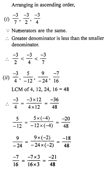 ML Aggarwal Class 7 Solutions for ICSE Maths Chapter 3 Rational Numbers Ex 3.2 13