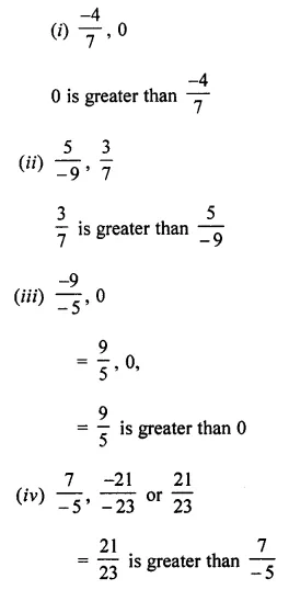 ML Aggarwal Class 7 Solutions for ICSE Maths Chapter 3 Rational Numbers Ex 3.2 6