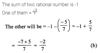 ML Aggarwal Class 7 Solutions for ICSE Maths Chapter 3 Rational Numbers Objective Type Questions 17