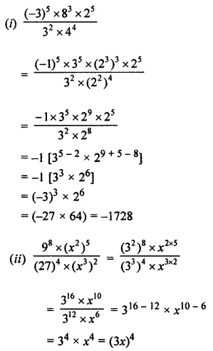 ML Aggarwal Class 7 Solutions for ICSE Maths Chapter 4 Exponents and Powers Check Your Progress 5