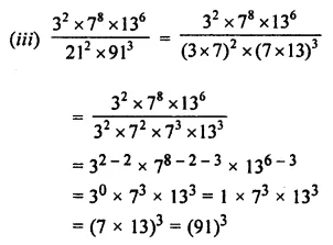 ML Aggarwal Class 7 Solutions for ICSE Maths Chapter 4 Exponents and Powers Check Your Progress 6