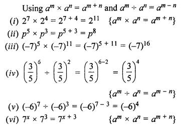 ML Aggarwal Class 7 Solutions for ICSE Maths Chapter 4 Exponents and Powers Ex 4.2 2