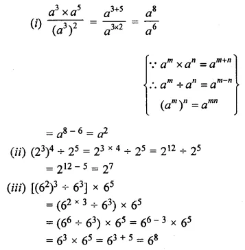 ML Aggarwal Class 7 Solutions for ICSE Maths Chapter 4 Exponents and Powers Ex 4.2 6