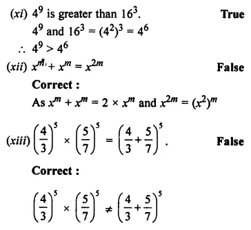 ML Aggarwal Class 7 Solutions for ICSE Maths Chapter 4 Exponents and Powers Objective Type Questions 6