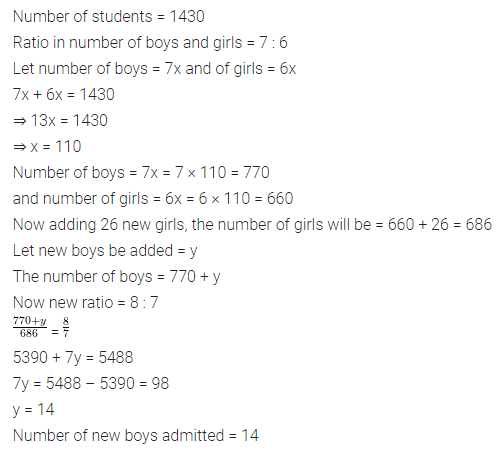 ML Aggarwal Class 7 Solutions for ICSE Maths Chapter 6 Ratio and Proportion Ex 6.1 21