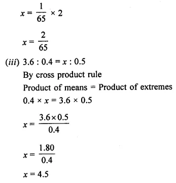 ML Aggarwal Class 7 Solutions for ICSE Maths Chapter 6 Ratio and Proportion Ex 6.2 5