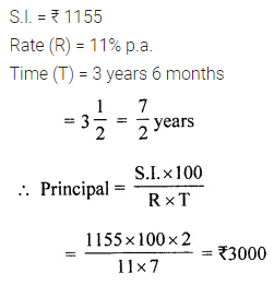 ML Aggarwal Class 7 Solutions for ICSE Maths Chapter 7 Percentage and Its Applications Check Your Progress 19
