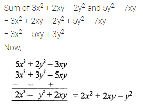 ML Aggarwal Class 7 Solutions for ICSE Maths Chapter 8 Algebraic Expressions Check Your Progress 8