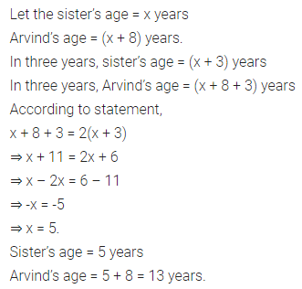 ML Aggarwal Class 7 Solutions for ICSE Maths Chapter 9 Linear Equations and Inequalities Check Your Progress 7