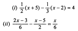 ML Aggarwal Class 7 Solutions for ICSE Maths Chapter 9 Linear Equations and Inequalities Ex 9.1 11